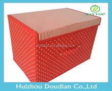 Red Canvas storage container with Lid