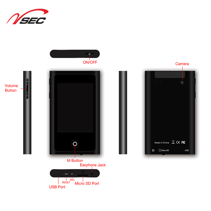 New Arrival Digital Voice Recorder Mp4 Player