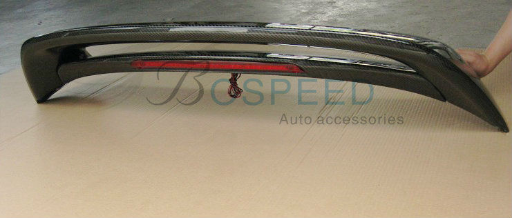 Double Deck Carbon Fiber Rear Spoiler For 2012 New MAZDA 3 Hatchback