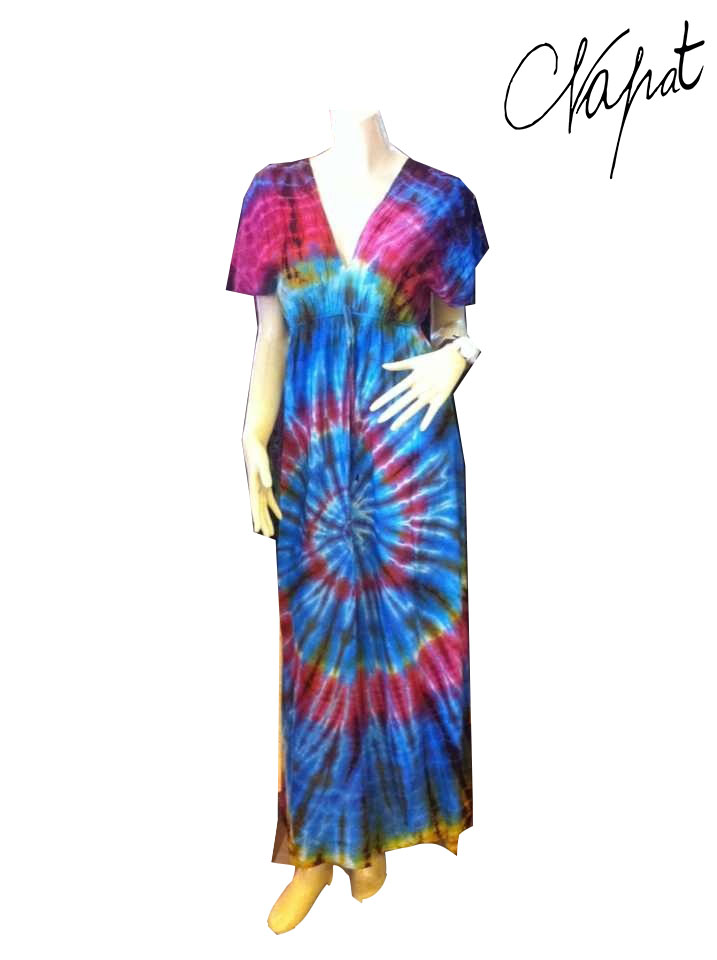 NEW TIE DYE HIPPIE BOHO GYPSY DRESS WOMEN COLORFUL SUMMER PLUS SIZE