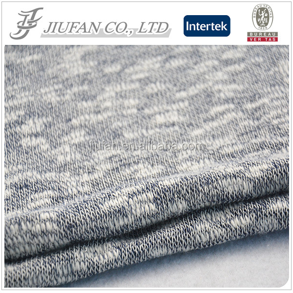 Jiufan textile hacci yarn dyed cotton fabric wholesale lightweight hoodie fabric