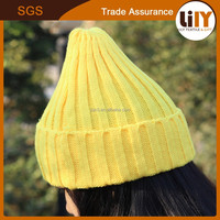 New Product yellow Knit Hats Wholesale Fancy for young girls