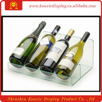 acrylic wine bottle holder/showcase/display stands