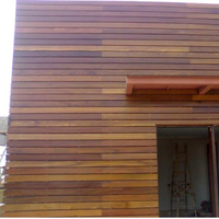 solid teak external wooden facade cladding