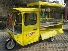 three wheel close cabin ice cream cart tricycle for coffee