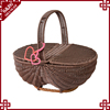 Environmental sweety style wicker fruit basket with cover