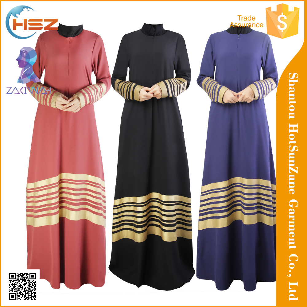 ZakiyyahMD050 Fashion Baju Kurung Muslim Winter Dresses For Women New Model Abaya In Dubai