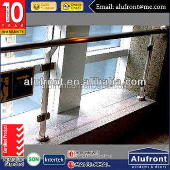 high security AS2047 Glass balcony railings in Alufront