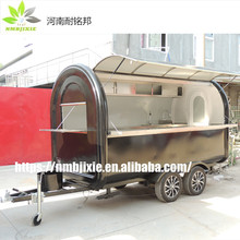Factory sell mobile mall outdoor crepe juice bubble tea fast food kiosk, food van, coffee carts for sale