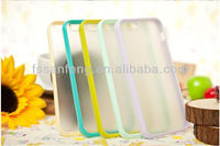 Top fashional tpu bumper for iphone5/tpu bumper + pc backside frosted case for iphone 5/transparent matte skin case for iphone 5
