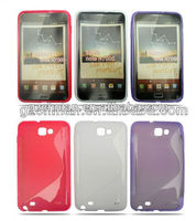 Soft matte s line tpu cover case for samsung galaxy note n7000 i9220 cover