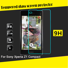 Wholesale price for Sony Xperia Z1 Compact tempered glass screen guard for Sony Z1 mini screen guard