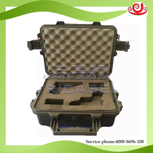 OEM/ODM china manufacture tricases IP67 hard plastic portable professional military gun case
