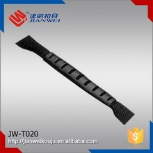 JW-T020 Wholesale PVC plastic webbing injection handle for bags