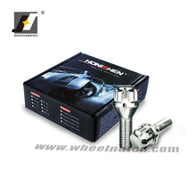 M12 x 1.5 45mm Alloy Wheel Locking Bolts and Key Tapered