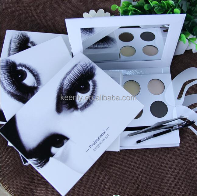 Professional waterproof long lasting 4 colors eyebrow powder kit