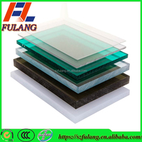 transaprent pet petg plastic board for 16mm solid polycarbonate sheet ecofriendly material factory since 2000