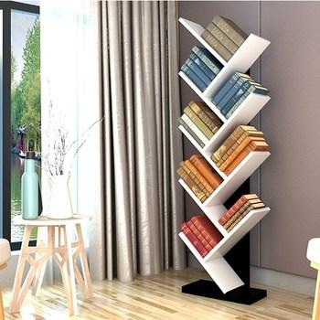 Brief Wooden Tree Bookshelf Living Room Furniture Bookcase For Kids