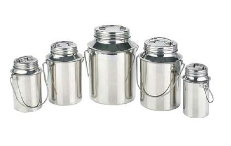 STEEL MILK CAN STORAGE POT JUG FOR DAIRY FARM 1 TO 20 LITRE