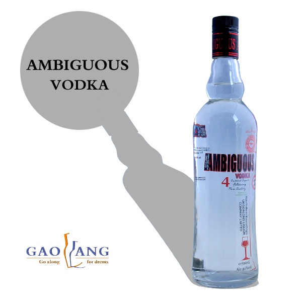 Hot sale 1000mlvodka or 1000 ml vodka, french vodka, fifth of vodka
