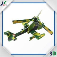 cartoon toy supper 3d jigsaw puzzle airplane for kids