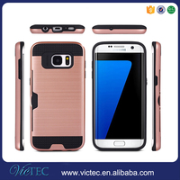 Unbreakable for Samsung Galaxy S7 Edge Credit Card Slot Hybrid Combo Back Cover Case