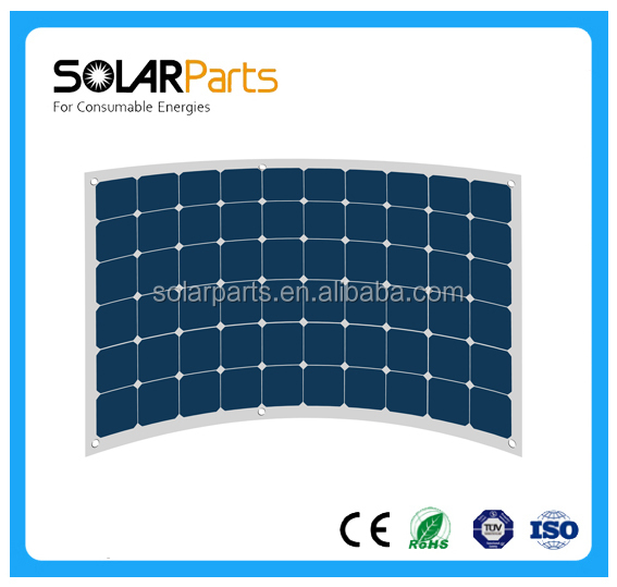 100W flexible sunpower solar panel sunpower solar panel quality solar module for RV, Marine, Caravan