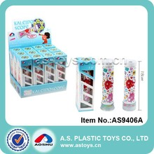 Plastic kids double rotatable glass kaleidoscope toys