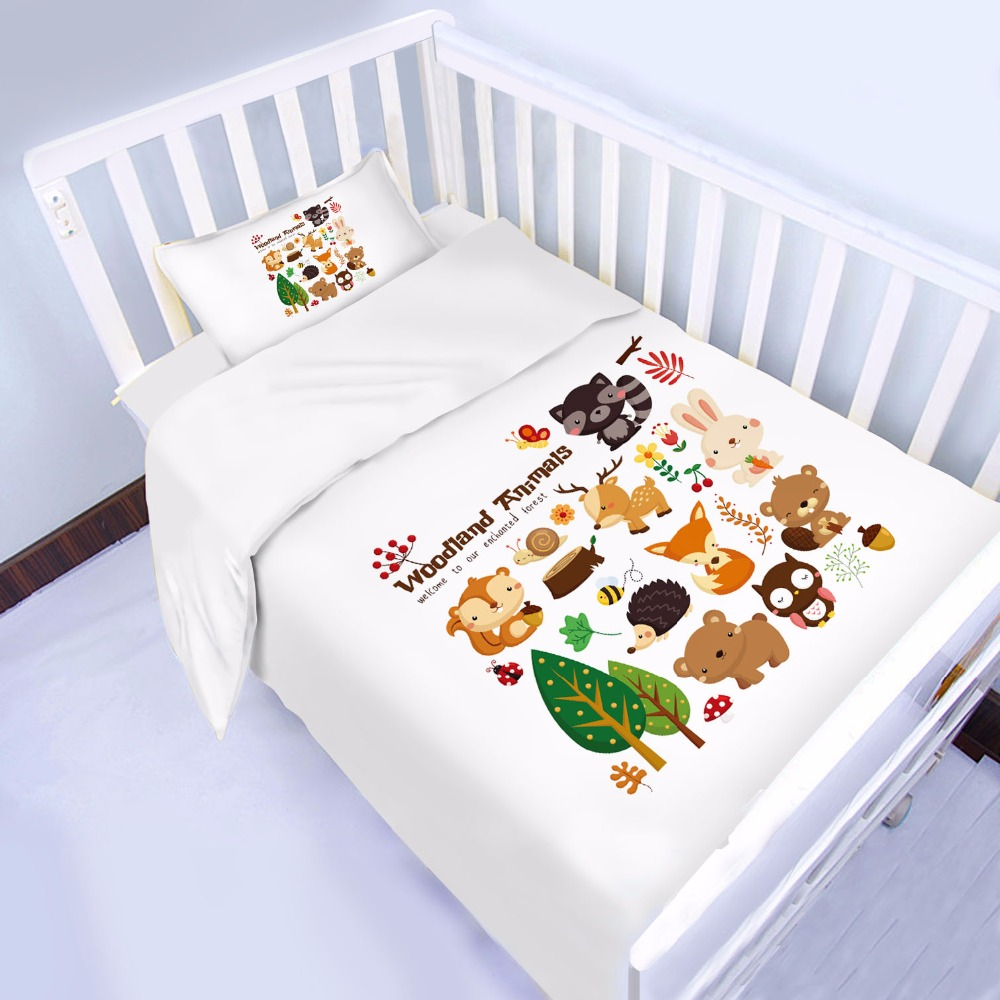 Little Forest Friends Animals 3d Baby Comforter set 4 and 6 pcs available