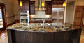 Personalized polished Prefab Wet Bar Granite Countertop