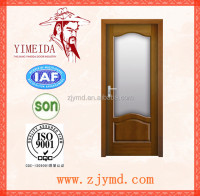 fashion main entrance veneered wooden door design for bedroom/office room/hotel/villa