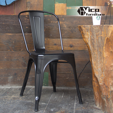 cheap and durable modern design living room restaurant dining room iron and steel black metal chair