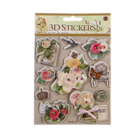 2016 new design kid 3D flower sticker for scrapbooking