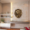 Original tiger head 3D statue resin wall hanging for modern wall decorations