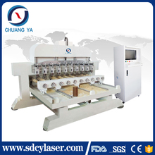 FDA+CE standard top multi 8 10 heads spindle rotary axis woodworking cnc router with cheap price