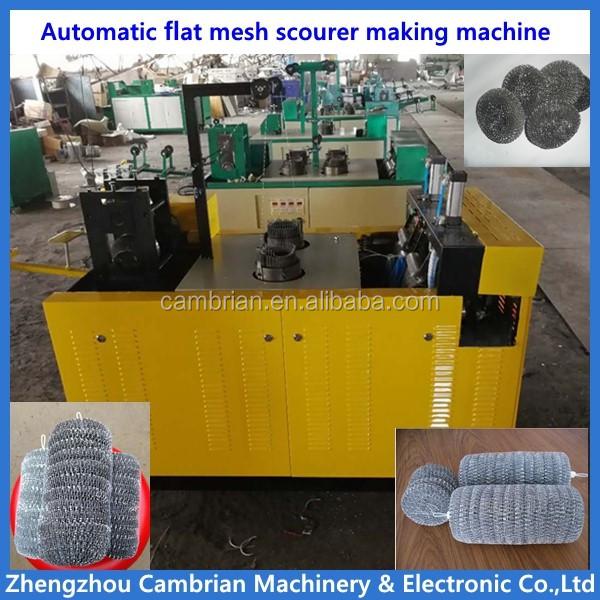 kitchen clean ball mesh scrubber scourer making machine