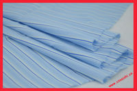 Cotton yarn dyed fabric blue stripes fabric