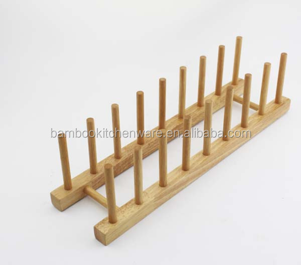 High quality kitchen bamboo dish rack for cabinets