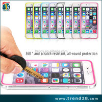 new crystal touch screen clear plastic hard back case for iphone 6