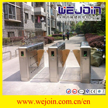 Access Control Flap Turnstile Automatic Flap Barrier Gate with Safe Internal Construction Design For Access Control System