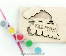 Personalized Wooden Name Puzzle DIY present gift favor for kids