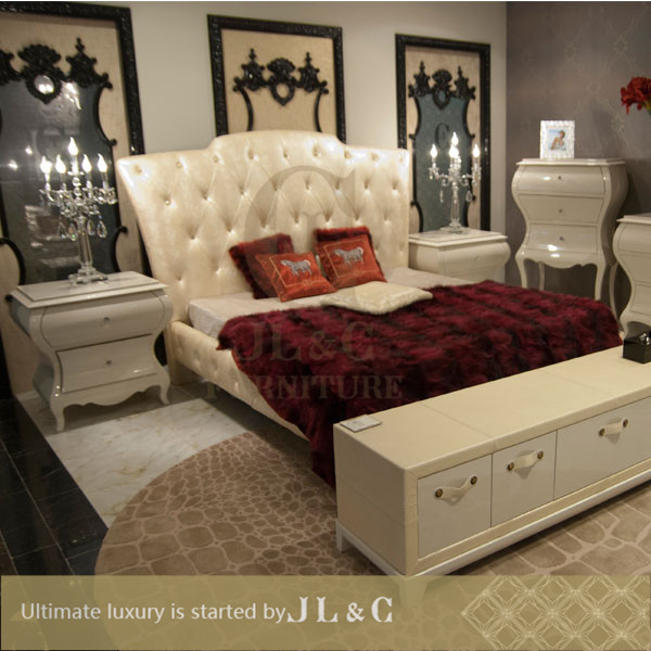 Newly JB05 series-- Elegant & Best selling bedroom furniture sets, oxhide leather luxury furniture-china supplier-JL&C Furniture