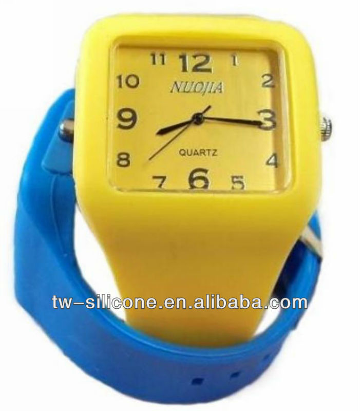 2013 new sport square color watches silicon