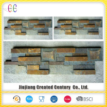 Interior rusty flat slate walling panel