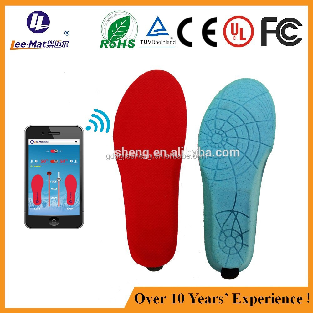 App Control Poliyou Winter Ski Boots Heating Safety Rechargeable Insole