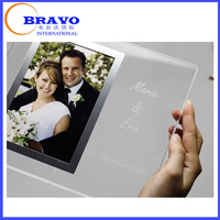 Mini Magnetic Flat Photograph Photo Acrylic Frame Love Photo Frames