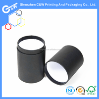 home appliance cardboard paper black tube for tool packaging with colored printed