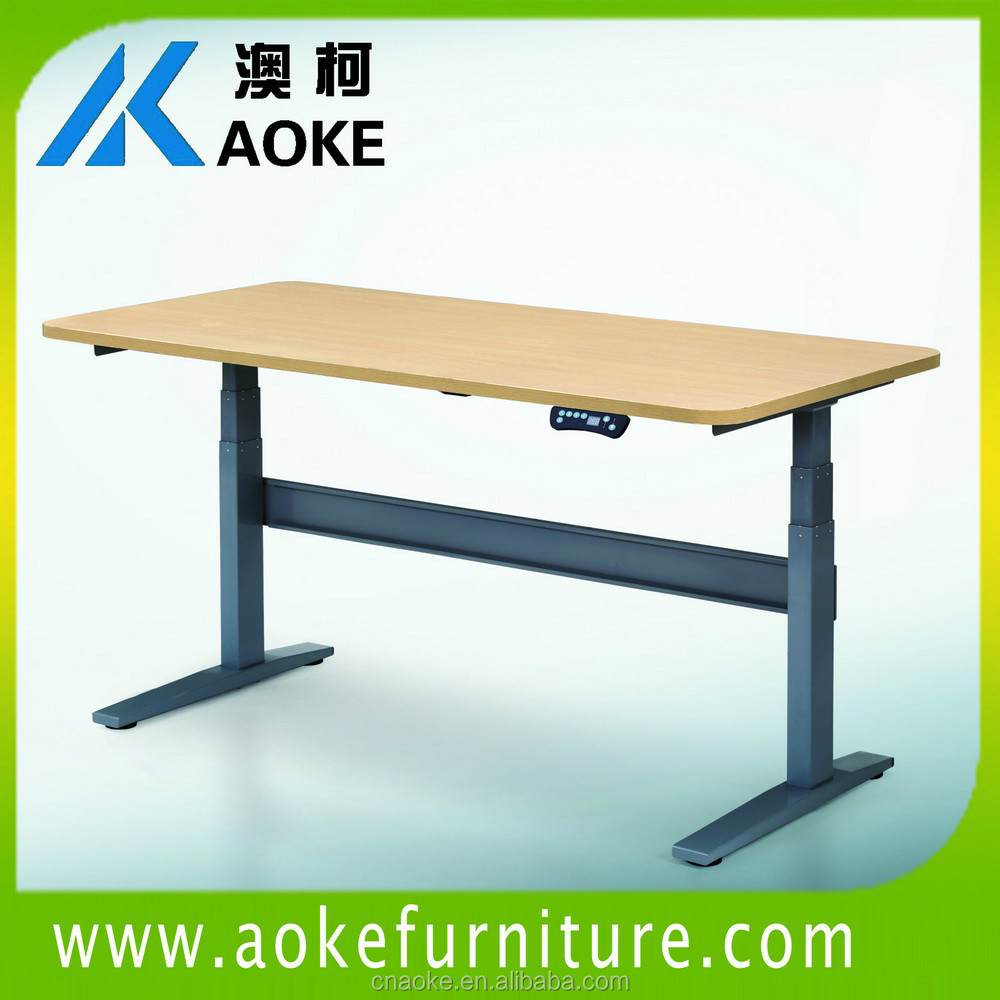 steel frame height adjustable desk with dual motor