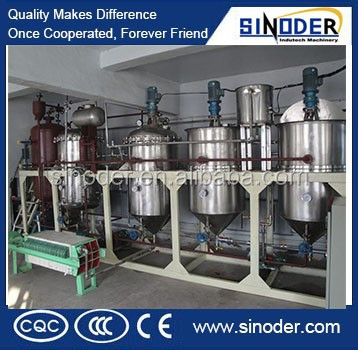 CE approved first grade oil refinery/crude oil refinery / sunflower oil refinery