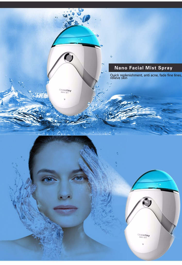 USB Rechargeable Fashion Handheld Nano Facaial Mist Spray